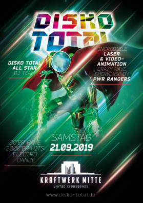 Disko Total • Kraftwerk Mitte • Season Opening