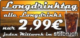 Longdrinktag - Alle Longdrinks nur 2,99 €