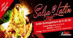 Jeden Freitag Salsa+Latin Night & Schnupperkurs