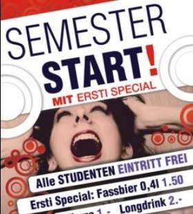 Semester Start mit Ersti Special